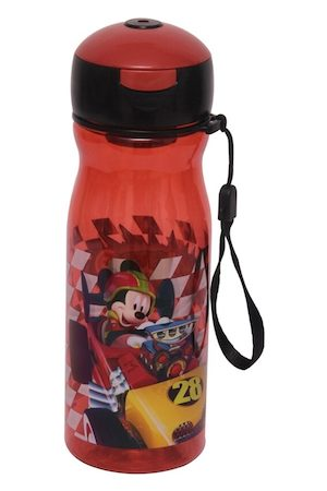 Disney Kids Red & Black Mickey Mouse Printed Sipper Water Bottle 500 ML