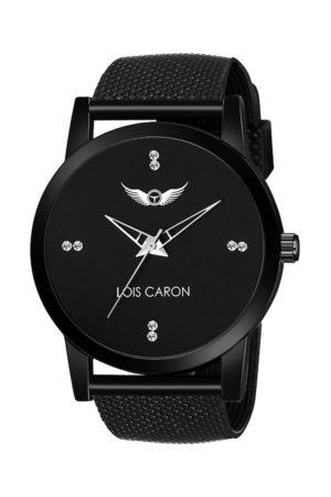 LOIS CARON Men Black Analogue Watch
