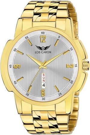 LOIS CARON Men Gold-Toned Analogue Watch