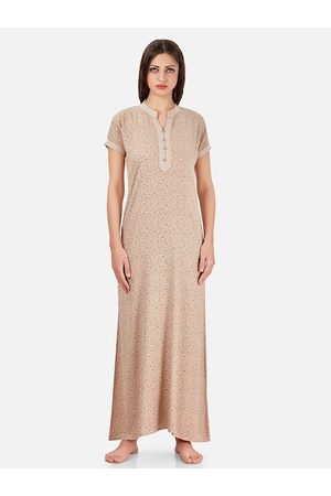 Sand Womens Brown Polyester Solid Maxi