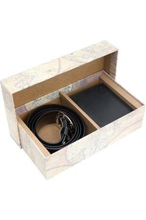 Blacksmith Men Black & Brown Reversible Accessory Gift Set