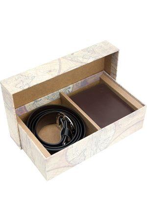 Blacksmith Men Brown Black Solid Accessory Gift Set
