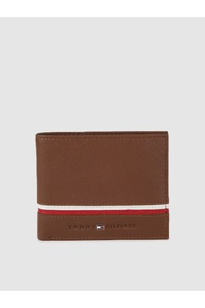 Tommy Hilfiger Men Brown Solid Leather Two Fold Wallet