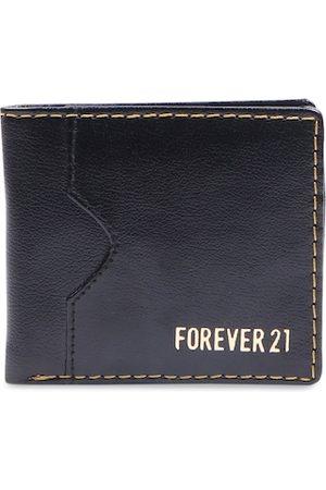 Forever 21 Men Black Solid Two Fold Wallet