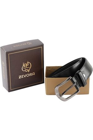 ZEVORA Men Black Solid Belt
