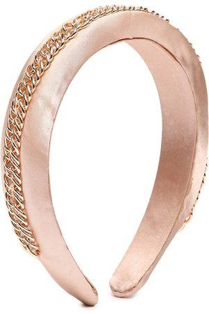 Forever 21 Women Pink & Gold-Toned Embellished Hairband