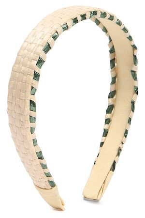 Forever 21 Beige & Green Embellished Hairband