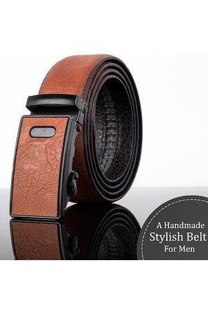 Kastner Men Brown & Black Textured Belt
