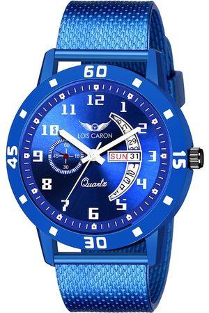 LOIS CARON Men Blue Dial & Blue Straps Analogue Watch