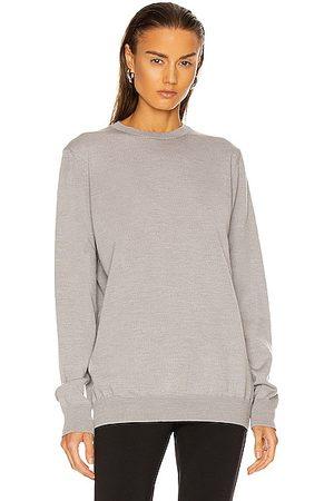 WARDROBE.NYC Crew Sweater in Grey