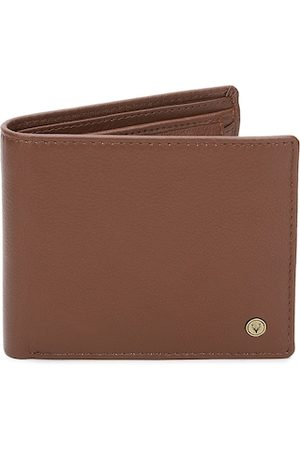 Allen Solly Men Brown Solid Two Fold Leather Wallet
