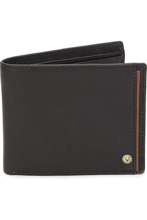 Allen Solly Men Coffee Brown Solid Two Fold Leather Wallet