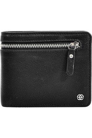 Eske Men Black Textured Two Fold Wallet
