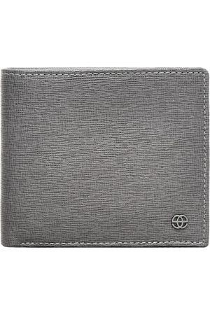 Eske Men Grey Textured Two Fold Wallet