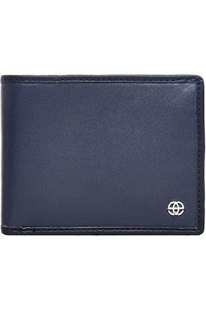Eske Men Navy Blue Solid Two Fold Wallet