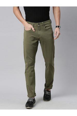 Nautica Men Green Slim Fit Regular Trousers