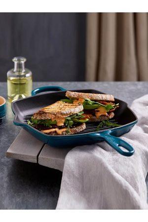 Le Creuset Black & Teal Blue Solid Square Grillit