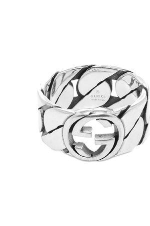 Gucci Interlocking G Gourmette Ring 10mm