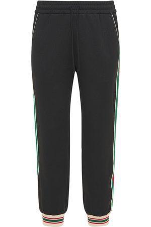 Gucci Men Sports Trousers - Gg Jersey Jacquard Jogging Pants