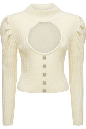 GIUSEPPE DI MORABITO Women Jumpers - Cut Out Wool Blend Knit Sweater