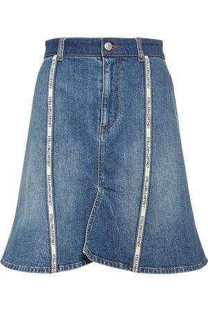 STELLA MCCARTNEY Cotton Denim A Line Skirt