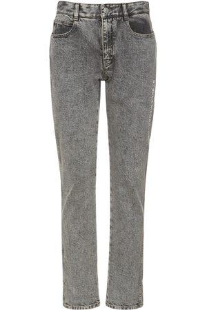 Stella McCartney Women Jeans - Cotton Denim Embroidered Logo Jeans