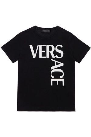 VERSACE Logo Print Jersey T-shirt