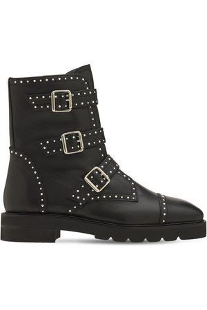STUART WEITZMAN 30mm Jesse Lift Leather Ankle Boots