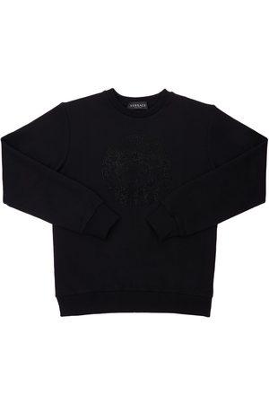 VERSACE Girls Sweatshirts - Embellished Medusa Print Sweatshirt