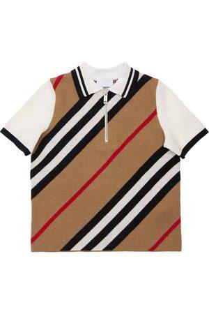 Burberry Merino Wool Blend Polo Shirt