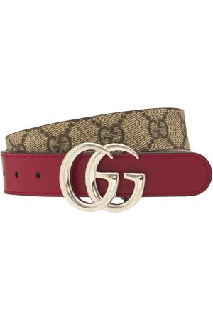 Gucci Gg Faux Leather Belt