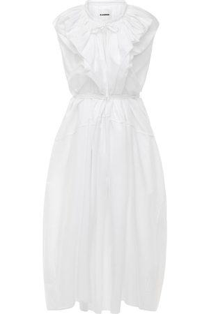Jil Sander Women Maxi Dresses - Organic Cotton Poplin Maxi Dress