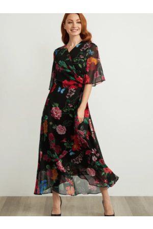 Joseph Ribkoff Women Printed Dresses - Floral Wrap Dress 211063 (A)