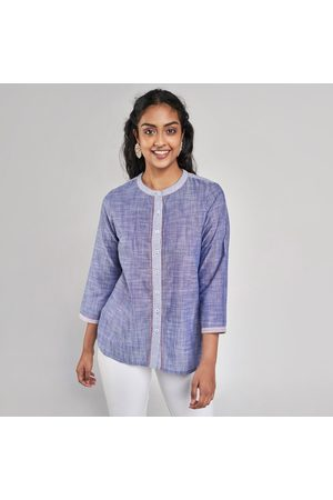 Global Desi Women Embroideted Button-Down Tunic