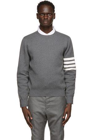 Thom Browne Grey Milano 4-Bar Sweater