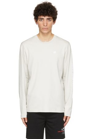 Helmut Lang Taupe Piping Long Sleeve T-Shirt