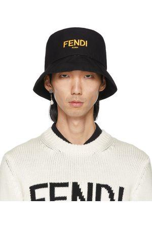 Men Hats - Fendi Reversible Black 'Forever Fendi' Fisherman Hat
