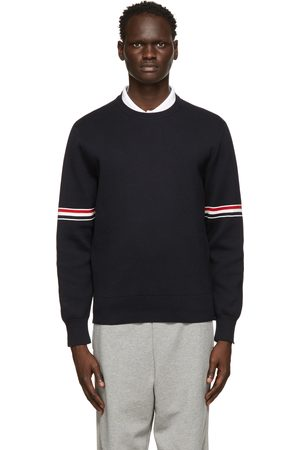 Thom Browne Navy Milano RWB Stripe Sweater