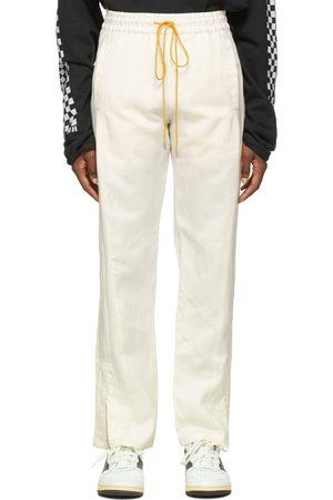 Rhude Off- Silk Wide Leg Trousers