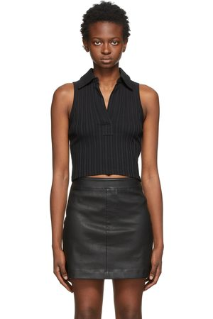 Helmut Lang Sleeveless Cropped Polo