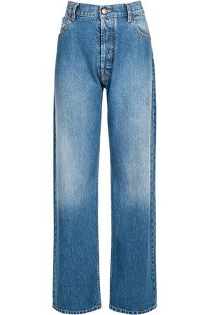 Maison Margiela Cotton Denim Straight Fit Jeans
