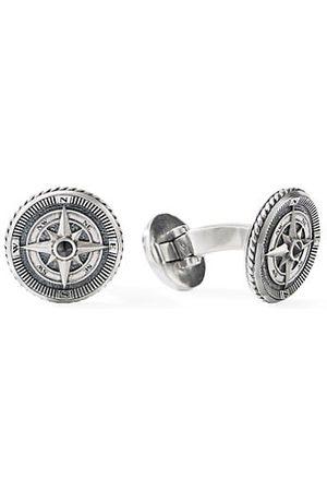 David Yurman Maritime Sterling Silver & Black Diamond Compass Cufflinks