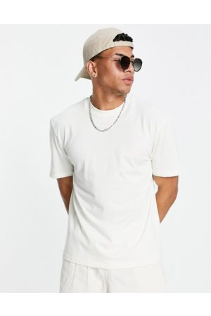 River Island T-shirt with circle embroidery in stone