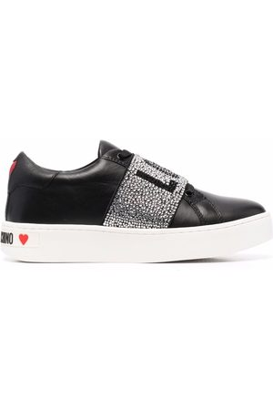 Love Moschino LOVE crystal-embellished trainers