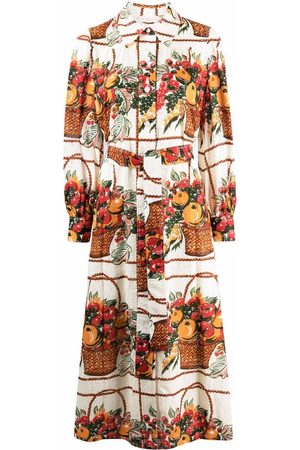 Tory Burch Women Printed Dresses - Broderie anglaise fruit-print dress