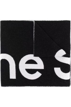 Acne Studios Oversized jacquard logo scarf