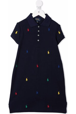 Ralph Lauren Girls Casual Dresses - Polo Pony-embroidered polo dress