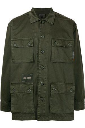 Izzue Men Long Sleeve - Cargo-pocket cotton shirt