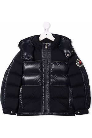 Moncler Logo-patch panelled puffer jacket