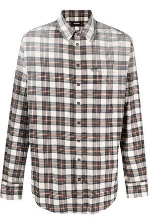 Dsquared2 Distressed effect flannel shirt